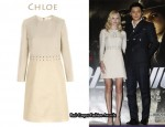 In Kate Bosworth's Closet - Chloé Leather & Linen Dress