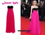 In Diane Kruger's Closet - Jason Wu Silk Crepe Strapless Gown