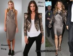 In Fergie's Closet - Alexander Wang Dress & Alice + Olivia Luiza Embellished Jacket