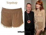 In Florence Welch's Closet - Topshop Velvet & Lace Shorts