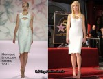 Gwyneth Paltrow In Monique Lhuillier - Hollywood Walk of Fame Unveiling