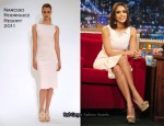 "Jessica Alba In Narciso Rodriguez - ""Late Night With Jimmy Fallon"""