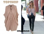 In Lauren Conrad's Closet - Topshop Drape Front Sleeveless Top