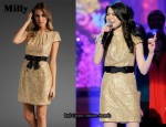 In Miranda Cosgrove's Closet - Milly Gold Sequin Dress