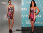 In Olivia Munn's Closet - Tibi Viola Strapless Dress