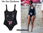 In Rihanna's Closet - We Are Handsome Panther-Print Swimsuit