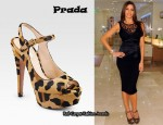 In Sofia Vergara's Closet - Prada Leopard Print Sandals