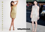 In Alexis Bledel's Closet - Behnaz Sarafpour Pleated Metallic One Shoulder Dress