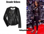 In Lala Vasquez' Closet - Alexander McQueen Contrast-Leather Biker Jacket