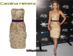 In Dianna Agron's Closet - Carolina Herrera Strapless Floral Dress