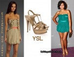 In Taraji P. Henson Closet - Elizabeth & James Soma Dress & YSL Tribute Sandals