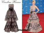In Dianna Agron's Closet - Carolina Herrera Lace Gown