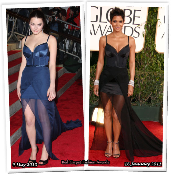 Who Wore Nina Ricci Better Bee Shaffer Or Halle Berry Red Carpet Fashion Awards