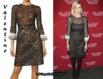 In Kirsten Dunst's Closet - Valentino Two Tone Lace Dress