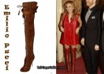 In Kylie Minogue's Closet - Emilio Pucci Suede Thigh-High Boots