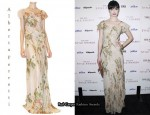 In Krysten Ritter's Closet - Alberta Ferretti Chiffon Dress
