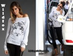 In Halle Berry's Closet - Wildfox Tiger Sweater