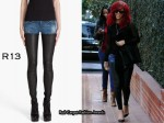 In Rihanna's Closet - R13 Denim Leather Chap Jeans