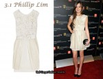 In Hailee Steinfeld's Closet - 3.1 Phillip Lim Silk Flower & Pleat-Embellished Dress