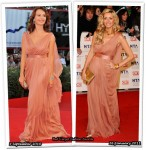 Who Wore Alberta Ferretti Better? Violante Placido or Tess Daly