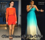 Best Dressed Of The Week - Emmy Rossum In J. Mendel & Queen Latifah In Edition by Georges Chakra