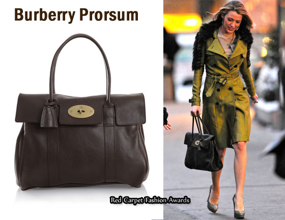 In Blake Lively S Closet Mulberry Bayswater Bag Red