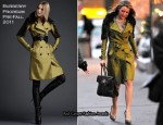 On The Set Of Gossip Girl - Blake Lively In Burberry Prorsum