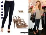 In Lo Bosworth's Closet - J Brand Jeans & YSL Hampton Sandals