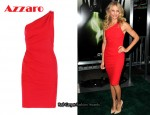 In Cameron Diaz' Closet – Azzaro One-Shoulder Red Dress
