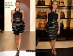 Diane Kruger In Gucci - Gucci Rue Royale Reopening Party