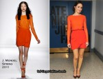 "Emmy Rossum In J. Mendel - ""Late Night with Jimmy Fallon"""