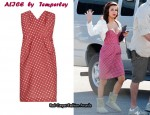 In Eva Longoria's Closet - ALICE by Temperley Polka Dot Strapless Dress