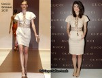 Gemma Arterton In Gucci - Gucci Rue Royale Reopening Party