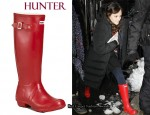 In Leighton Meester's Closet - Hunter Red Rain Boots