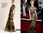 January Jones In Carolina Herrera - 2011 SAG Awards