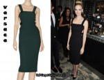 In January Jones' Closet - Versace Black Dress
