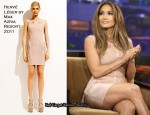"Jennifer Lopez In Hervé Léger by Max Azria - ""The Tonight Show With Jay Leno"""