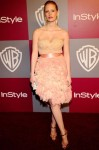 Jessica Chastain In Fait Main by Ports 1961 - 2011 InStyle/Warner Brothers Golden Globes Party