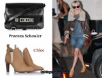 In Kate Bosworth's Closet - Proenza Schouler PS11 Leather Satchel & Chloe Ankle Boots