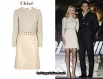 In Kate Bosworth's Closet - Chloé Leather & Linen-Blend Dress