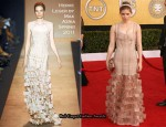 Kate Mara In Herve Leger by Max Azria - 2011 SAG Awards