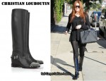 In Khloe Kardashian's Closet - Christian Louboutin Egoutina Studded Leather Boots