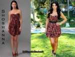 In Kim Kardashian's Closet - Shoshanna Strapless Full Skirt Dress