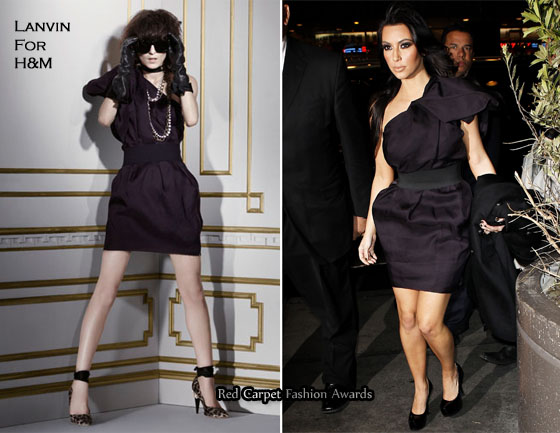 Sidewalk Style - Kim Kardashian In Lanvin For H M - Red Carpet ... 0687c0c7e