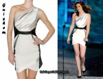 In Kristen Stewart's Closet - Guishem Satin Asymmetrical Dress