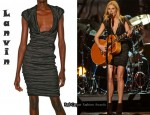 In Gwyneth Paltrow's Closet - Lanvin Metallic Dress