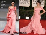 Lea Michele In Oscar de la Renta – 2011 Golden Globe Awards