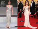 Lea Michele In Oscar de la Renta - 2011 SAG Awards