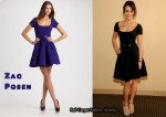In Lea Michele's Closet - Zac Posen Black Full-Skirted Dress