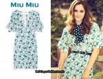 Leighton Meester's Miu Miu Print Mini Dress